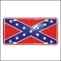 Rebel Flag License Plate