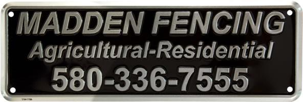 Custom Fence Signs - Madden Fencing