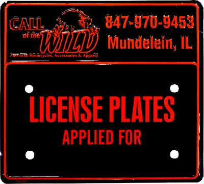 Custom Motorcycle Plates - Call of the Wild