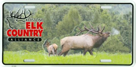 Custom Front License Plates - Keystone Alliance - Elk Country
