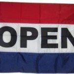 """""""OPEN"""" Flag-Banner"""