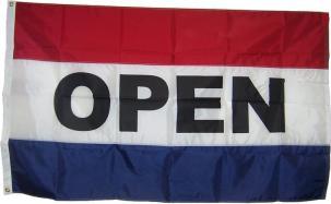 """""""OPEN"""" Flag/Banner"""
